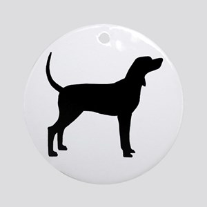Coonhound Dog (#2) Ornament (Round)