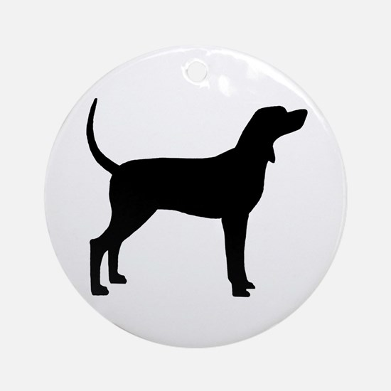 Coonhound Dog (#2) Ornament (Round)