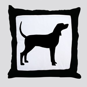 Coonhound Dog (#2) Throw Pillow