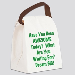 Be AWESOME Canvas Lunch Bag