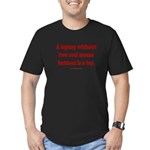 laptop without 2 real Men's Fitted T-Shirt (dark)