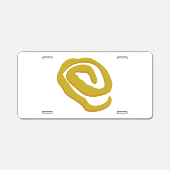 Yellow Sign Aluminum License Plate
