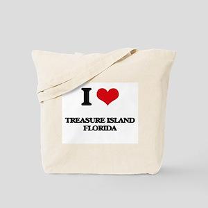 I love Treasure Island Florida Tote Bag