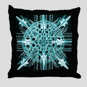 Symmetry, a Diatom by Ernst Haeckel Throw Pillow