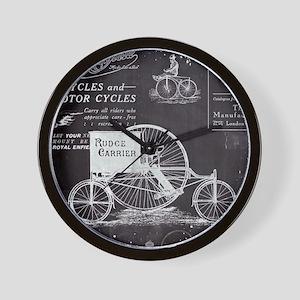 french paris vintage bike Wall Clock