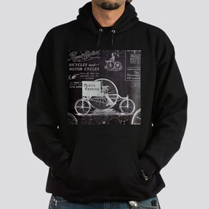 french paris vintage bike Hoodie (dark)
