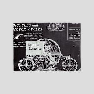 french paris vintage bike 5'x7'Area Rug