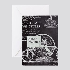 french paris vintage bike Greeting Cards