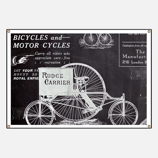 chalkboard paris vintage bike Banner