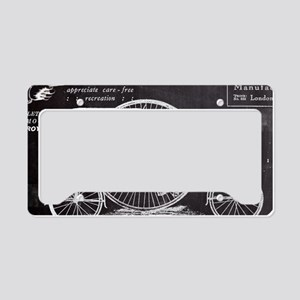 chalkboard paris vintage bike License Plate Holder