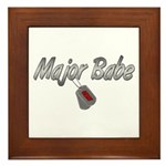 Navy Major Babe ver2 Framed Tile