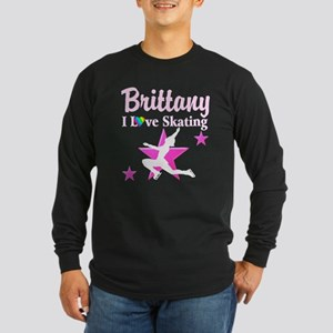 SKATING PRINCESS Long Sleeve Dark T-Shirt