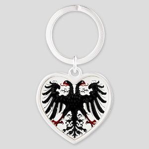 Holy Roman Empire Insignia Heart Keychain