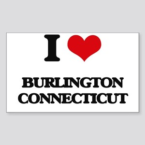 I love Burlington Connecticut Sticker