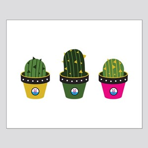Cactuses in pots Posters