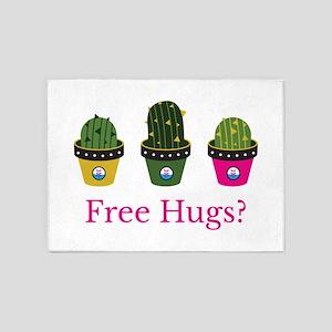 Free hugs? cactuses 5'x7'Area Rug