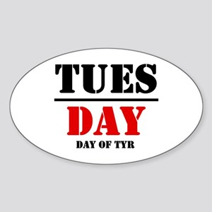 Tuesday 2 Oval Sticker