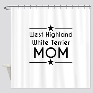 West Highland White Terrier Mom Shower Curtain