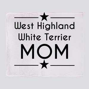 West Highland White Terrier Mom Throw Blanket