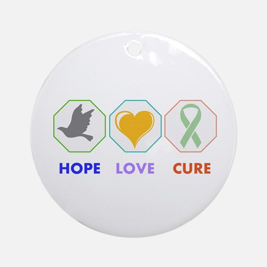 Hope Love Cure Ornament (Round)
