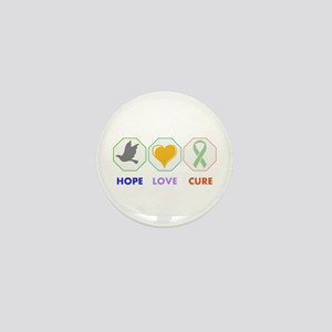 Hope Love Cure Mini Button