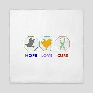 Hope Love Cure Queen Duvet