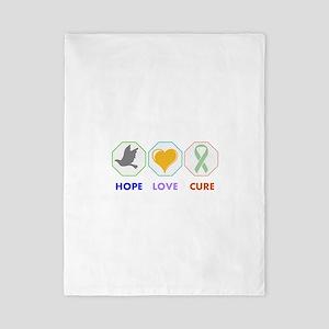 Hope Love Cure Twin Duvet