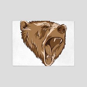Roaring Bear 5'x7'Area Rug