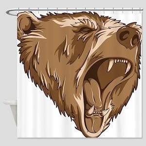 Roaring Bear Shower Curtain