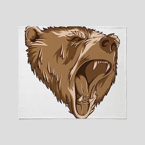 Roaring Bear Throw Blanket