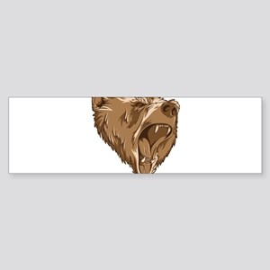 Roaring Bear Bumper Sticker
