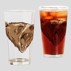 Roaring Bear Drinking Glass