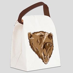 Roaring Bear Canvas Lunch Bag