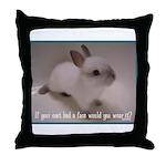 Bunny Coat Throw Pillow
