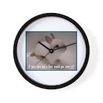 Bunny Coat Wall Clock