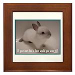 Bunny Coat Framed Tile