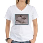Bunny Coat Women's V-Neck T-Shirt