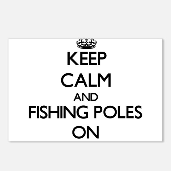 Keep Calm and Fishing Pol Postcards (Package of 8)