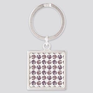 WINE & GRAPES Square Keychain