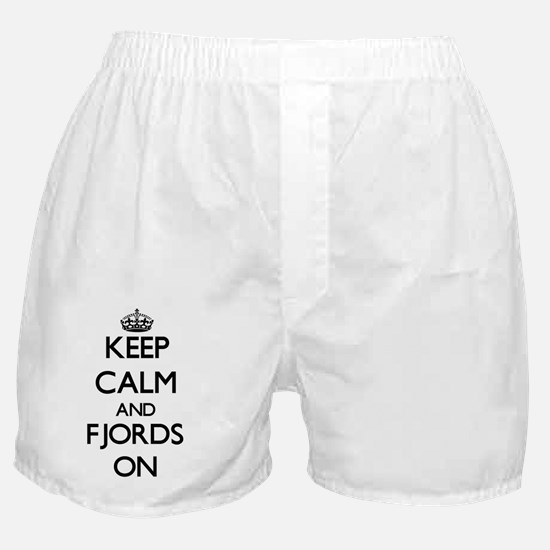 Keep Calm and Fjords ON Boxer Shorts