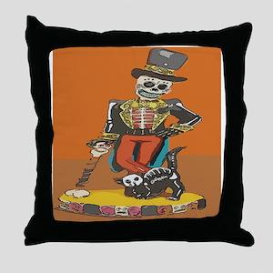 Day of Dead Skeleton  Throw Pillow