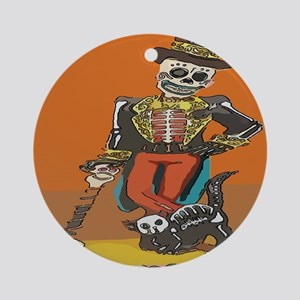 Day of Dead Skeleton Ornament (Round)