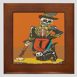 Day of Dead Skeleton Framed Tile