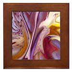 Native American Violets Framed Tile