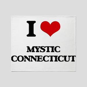 I love Mystic Connecticut Throw Blanket