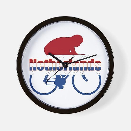 Netherlands Cycling Wall Clock