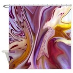 Native American Violets Shower Curtain
