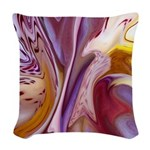 Native American Violets Woven Throw Pillow