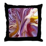 Native American Violets Throw Pillow