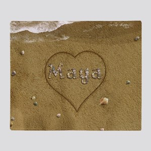 Maya Beach Love Throw Blanket